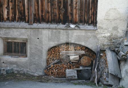 Haus und Holz im Unterengadin, Schweiz