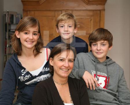 C.W. mit ihren Kindern