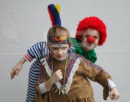 Clown und Indianer
