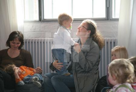 Bei einem Kinderkonzert im KunstSalon