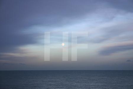 Sonnenuntergang am Strand von Deal, England