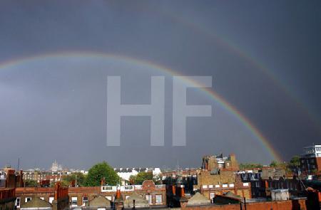 Regenbogen über London, rechts