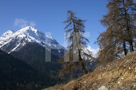 Alpenlandschaft bei Guarda, Schweiz