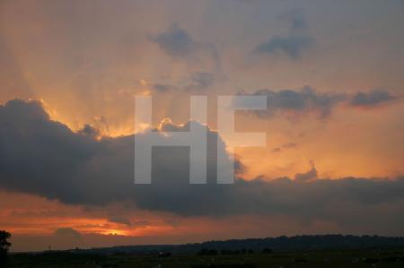 Sonnenuntergang bei Rye, Südengland