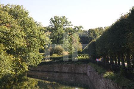Ein Kanal im Park von Schloß Brühl