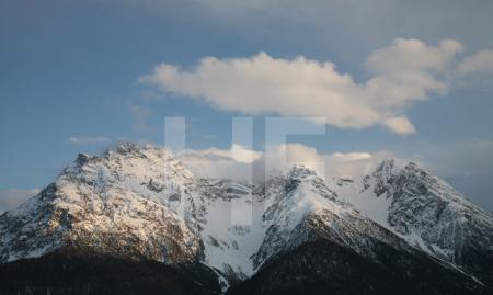 Blick auf die Gipfel der Sesvennagruppe im Unterengadin, Schweiz (4)