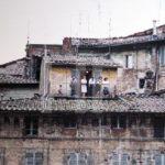 Balkon in Siena, Italien