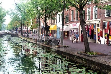 Straßenansicht in Delft, Holland