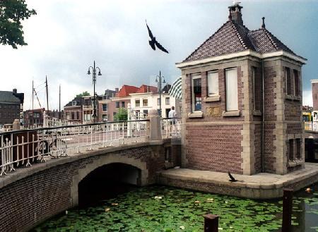 Brückenhaus in Leiden, Holland
