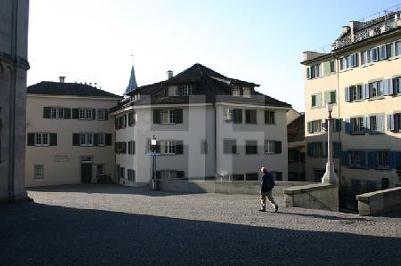 Grossmünsterplatz in Zürich, Schweiz