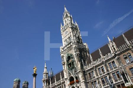 Das Rathaus am Marienplatz, München