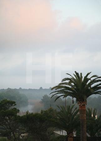 Blick ins Landesinnere, Canyamel, Mallorca (rosa Wolke)