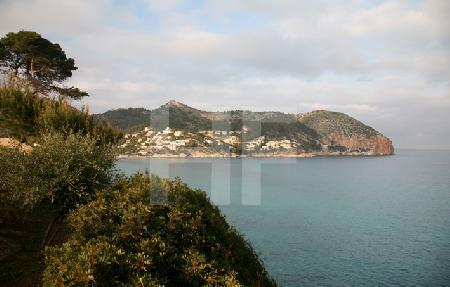 Die Bucht von Canyamel, von Süden gesehen, Mallorca