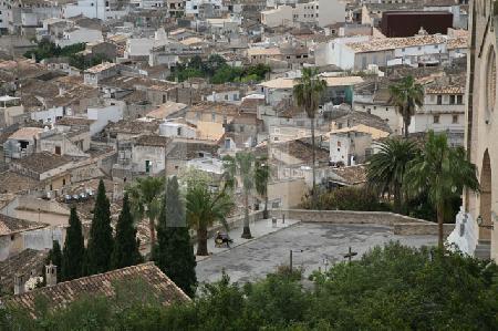Blick auf die Dächer von Artà, Mallorca