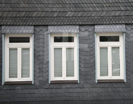 Schiefergedeckte Fassade in Goslar