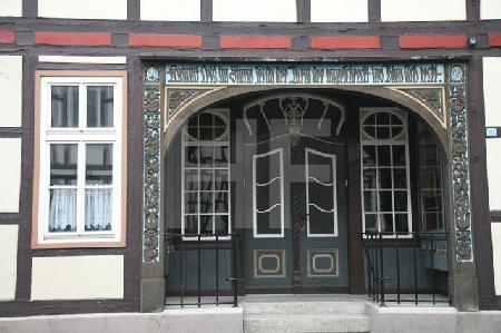 Fassade eines alten Fachwerkhauses in Goslar