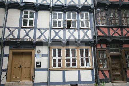 Fachwerkfassaden in Quedlinburg