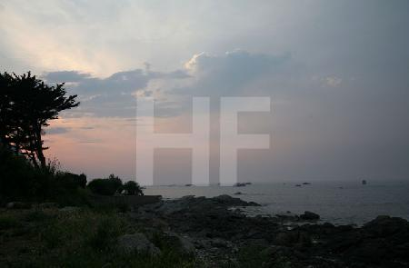 Abendstimmung an einem Strand von Brignogan, Bretagne