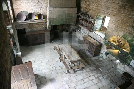 Die Küche des Chåteau de Kerjean, Bretagne