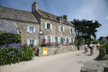 Radler auf der Ile de Batz, Bretagne