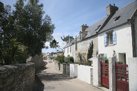 Reihenhäuschen auf der Ile de Batz, Bretagne