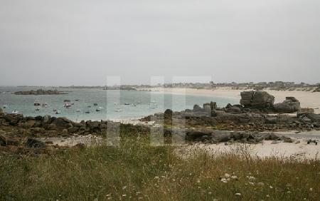 Die Bucht von Ménéham, Bretagne
