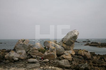 Felsen in der Bucht von Ménéham, Bretagne