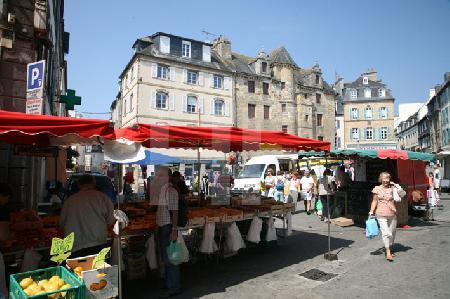 Markttag in Landerneau, Bretagne