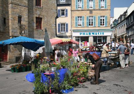 Markttag in Landerneau, Bretagne (2)