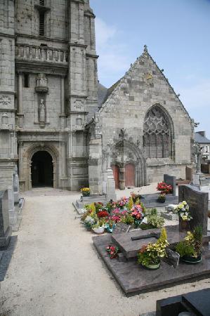 Das Portal der Kirche von Goulven, Bretagne