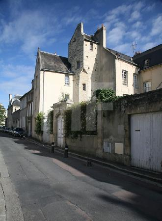 Straße in Bayeux, Normandie
