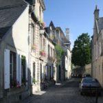 Kleine Straße in Bayeux, Normandie