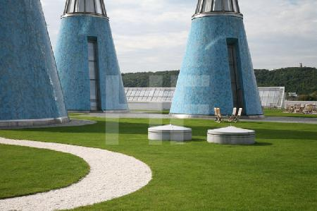 Auf dem Dach der Bundeskunsthalle in Bonn