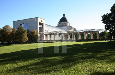 Die Staatskanzlei in München, von Norden