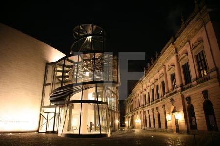 Das Deutsche Historische Museum in Berlin, mit dem Anbau von I. M. Pei
