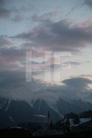 Abendhimmel über Ftan, Unterengadin