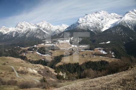 Gebirgslandschaft im Unterengadin, Schweiz (2)