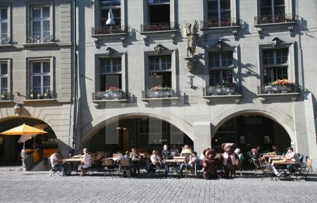 Straßencafé in Bern