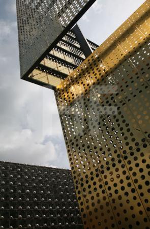 Der Infostand der Skulptur Projekte am LWL-Landesmuseum in Münster