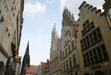 Häusergiebel am Prinzipalmarkt in Münster