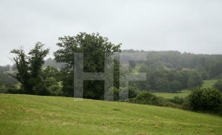 Verregnete Landschaft in Wiltshire