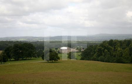 Blick auf den Park und Longleat House, Wiltshire