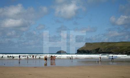 Der Strand von Polzeath, Cornwall
