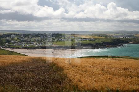 Pentire Head (Blick auf den Strand von Polzeath), Cornwall (1)