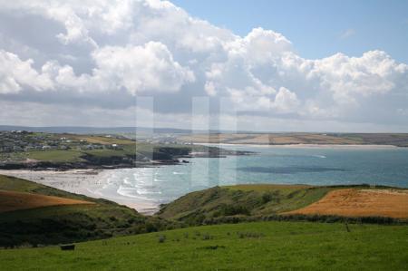 Pentire Head (Blick auf den Strand von Polzeath), Cornwall (2)