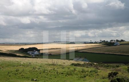 Farmland bei Polzeath, Cornwall
