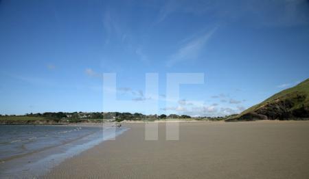 Daymer Beach bei Trebetherick, Cornwall