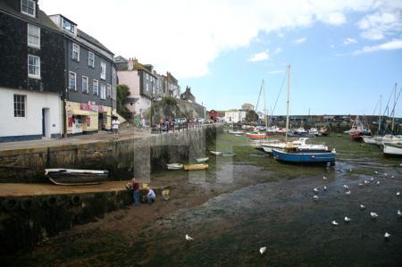 Der Hafen von Mevagissey, Cornwall (1)