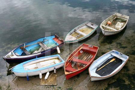 Boote im Hafen von Mevagissey, Cornwall