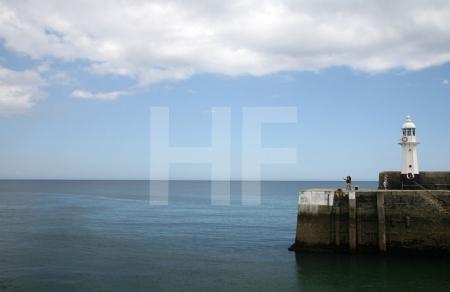 Der Leuchtturm von Mevagissey, Cornwall